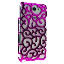 Rose red Electroplating Palace Hollow Case Cover For Samsung Galaxy Note2 N7100