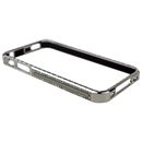 Lexury Crystal Bling Aluminum Metal Bumper Hard Case For Apple iPhone 4S Sliver