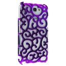 Purple Electroplating Palace Hollow Case Cover For Samsung Galaxy Note2 N7100