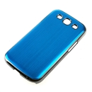 Blue Deluxe Aluminum Chrome Hard Case Cover for Samsung Galaxy S3 III GT i9300