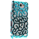 light blue Electroplating Palace Hollow Case Cover For Samsung Galaxy Note2 N7100