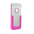 Pink U-Line Clear Back Hard Case Cover for Apple iPhone 5 5G 5th Gen New