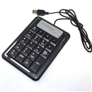 Black USB 19 keys Numeric Number Keypad Keyboard For Laptop
