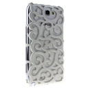 White Electroplating Palace Hollow Case Cover For Samsung Galaxy Note2 N7100