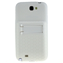 Extended Battery TPU Silicone Back Cover Case For Samsung Galaxy Note II 2 N7100 White