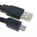 USB to Mini USB Charger Data Cable Black