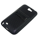 Extended Battery TPU Silicone Back Cover Case For Samsung Galaxy Note II 2 N7100 Black