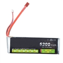 5200Mah 7.4V 30C MAX 40C 2S LiPo Battery T Plug For RC Car Airplane