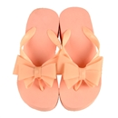 Summer Women Platform Mid Heel Flip Flops Beach Sandals Bowknot Slipper Shoes Size 37 Pink