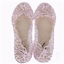 3 Colors Fashion Retro Plastic Beach Lady Womens Flat Sandals Hollow Summer Platform Pink