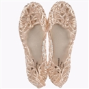 3 Colors Fashion Retro Plastic Beach Lady Womens Flat Sandals Hollow Summer Platform