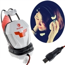 Sades A30 USB Stereo Headphone Music Headphone with Microphone with 40mm  white