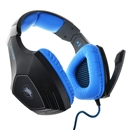 SADES A60 Wired Gaming Headset Retractable Mic 7.1 Surrounding Sound blue