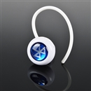 Wireless mini Stereo Bluetooth Earphone Headphone for Mobile Cell Phone Laptop Tablet white