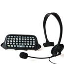 Replacement for XBOX 360 ChatPad Messenger Kit Keyboard+Headset Black