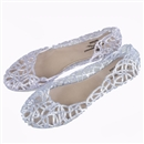 3 Colors Fashion Retro Plastic Beach Lady Womens Flat Sandals Hollow Summer Platform Silver