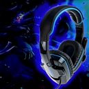 SADES SA-708 Head-band Wired PC Gaming Stereo Headphone Headset Blue Microphone