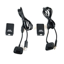2X 4800mAh Battery Pack+ Charger Cable for Xbox 360 Wireless Controller Black
