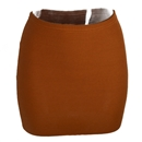 Fashion Women Lady Sexy Mini Skirt Slim  Stretch Tight Short Fitted Coffee