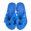 Summer Women Platform Mid Heel Flip Flops Beach Sandals Bowknot Slipper Shoes Size 37 Blue