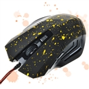 Change 6 Buttons 2000 DPI Optical Gaming Game Mouse Mice Wired LED for PC Laptop Yellow Dotted