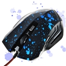Change 6 Buttons 2000 DPI Optical Gaming Game Mouse Mice Wired LED for PC Laptop Blue Dotted
