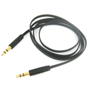 3FT 3.5mm Male M/M Stereo Plug Jack Audio Flat Extension Cable For Phone PC MP3 Black