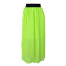 18 Colors Sexy Women Lady Double Layer Chiffon Pleated Retro Long Maxi Dress Elastic Waist Skirt