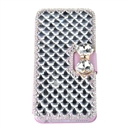 Super Deluxe Bling Diamonds Leather Cover Case for Apple Samsung iPhone 6 purple