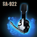 Sades SA-922 Multi-Platform Pro Gaming Headset Headphone Hidden Mic For PC/PS3/Xbox360  Black