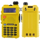 Yellow BaoFeng UV-5R 136-174 400-520MHz Dual-Band DTMF CTCSS DCS FM ham 2way radio