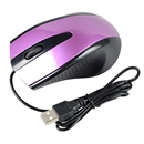 USB Wired Optical Scroll Wheel 3D Mice Mouse For Laptop PC Notebook Computer purple