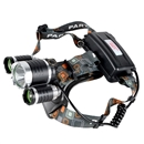 5000LM Lumen XM-L XML 3x T6 LED Headlight Light Flash Flashlight Head+Charger