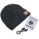 Black Warm Beanie Hat Wireless Bluetooth Smart Cap Headphone Headset Speaker Mic SK-H003B