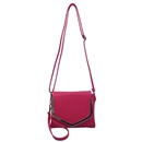 Rose Red SYMELI Solid Color Lady Messenger Cross Body Totes Shoulder Bag Satchel