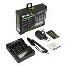 Xtar XTAR VP4 4-Bay Smart Battery Charger with LCD Digital Display, Black XTAR-VP4
