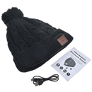 Black Warm Beanie Hat Wireless Bluetooth Smart Cap Headphone Headset Speaker Mic SK-H033B