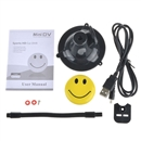 Super Cute Smiley Face Button Recording Hidden DV Camera DVR With cable New