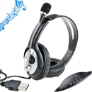 OVLENG Q2 USB 2.0 Stereo Headphone Microphone for PC Laptop Black