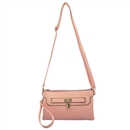 Pink Lady Ustyle Lock Buckle Decorative Purse Satchel Messenger Shoulder Bag