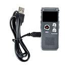 Rechargeable 4GB Digital Audio Dictaphone MP3 Player Voice Recorder iron gray