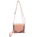 Pink SYMELI Solid Color Lady Messenger Cross Body Totes Shoulder Bag Satchel