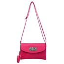 Rose Red Ustyle Lady Rotary button Shoulder Bag Satchel Messenger Tote Handbags
