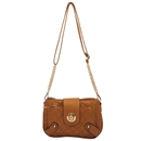 Brown Ustyle Women Handbag Lady Envelope Clutch Shoulder Chain Tote Bag Purse