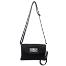 Black Ustyle ladies Rotary button Shoulder Bag Satchel Messenger Tote Handbags