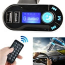 Car MP3 Player FM Wireless Transmitter USB SD MP3 Player LCD Car Charger Kit Mic Blue