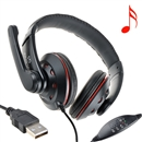 OVLENG Q5 USB Stereo Headphone Headset Earphone with Microphone for PC Laptop RED