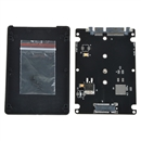 Black B key socket 2 M.2 NGFF (SATA) SSD to 2.5 SATA adapter card with case