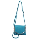 Blue SYMELI Solid Color Lady Messenger Cross Body Totes Shoulder Bag Satchel