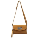 Brown Ustyle ladies Rotary button Shoulder Bag Satchel Messenger Tote Handbags
